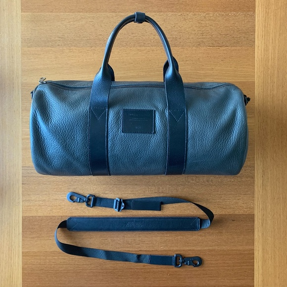 Killspencer gray leather Overnight duffle bag